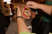 ...and face painting completes a party