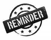 Drop Off Reminders