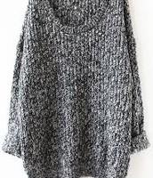 un pull gris