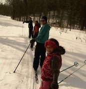Skiing with my nephew and nieces