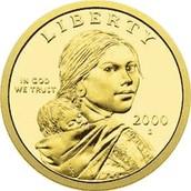 Sacagawea on a dollar coin