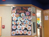 Check out our coffee filter turkeys we made.