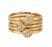 Paloma Stacked Rings - Size 7 (N) - Was  £32 Now £15