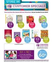 September Customer Specials