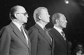 מנחם בגין, ג'ימי קרטר ואנואר סאדאת בקמפ דייוויד ב-1978