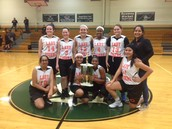 8th Grade Girls' First Place at Boles Tournament