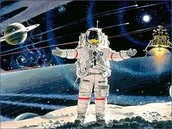 Astronaut in sapce