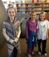 These girls displaying their excitement for Star Lab!