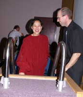 Lin being baptized in Jesus' name in Ontario.