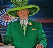 Don Cherry dressed as a leprechuan