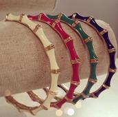 JULEP BANGLES - ivory, pink, green, blue