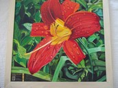 Silent Auction Preview - Lily Painting