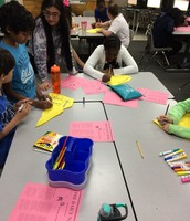 Mrs. King's Class Making an Energy Mural