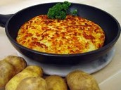 Swiss Rosti , consisting mainly of grated potatoes