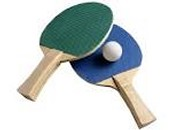 This is a ping pong ball and two paddles