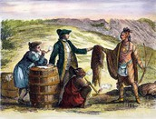 The British and the Natives Trading