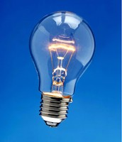 Light bulb with Tungsten Filament