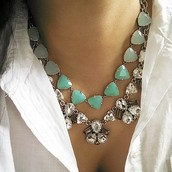 New Somervell neckalce in Aqua paired with the Lila Necklace- LOVE