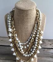 SOLD White Stone Sutton Necklace