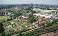 A view of Mini-Europe and Heysel Stadium.
