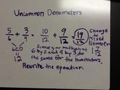 Uncommon Denometers