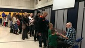 Long line during Dr. Heggerty Night was worth the wait!