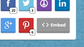 "3. Click on the ""<> Embed"" button"