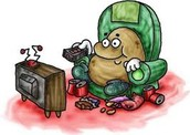 Part one:Are you a couch potato,bored nothing to do but just sleep and eat junk food all day.