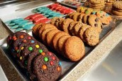 our cookie variety is through the roof with flavors like triple chocolate chip and red velvet