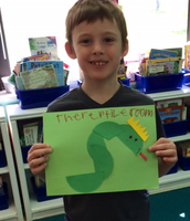Steven used halves to create his picture, The Reptile Room!
