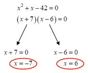 Solving from Factored Form