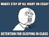 No sleeping in class.