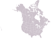 Map of US and Canada