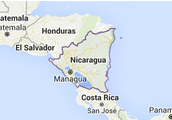 Map of the Nicaragua