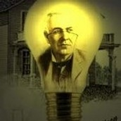 What inspired Thomas Edison to invent the electric lightbulb?