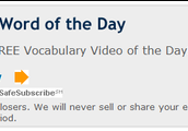 sign up for a daily Vocabulary email
