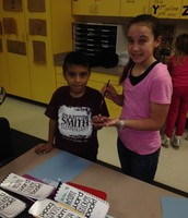 Anna mentoring in the Kindergarten classroom