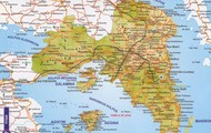 A map of Athens