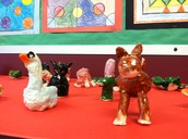 Second Grade Clay Animals