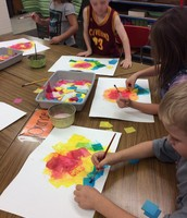 First Grade Tissue Paper Flowers