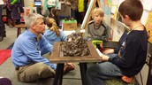 Checking out 5th grade Native American projects