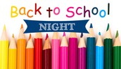 Back To School Night - Grades 3 to 5