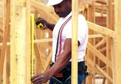 This is a carpenter framing a house, these people can do lots of things