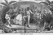 Slaves at dance in U.S. South