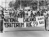 The Latino or Chicano Movement- Latinos march down a street