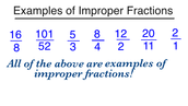 What are improper fractions?