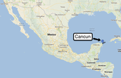 Where Cancun is located.