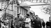 Some men at Auschwitz (Concentration camp)