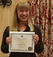 Student Poster Award Winner, Jennifer Bellingtier