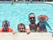 Philip Pelzman celebrates Father's Day at the pool with his family